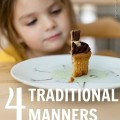 4 traditional manners faded