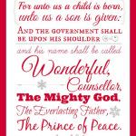 Printable Isaiah 9:6 Wall Art for Christmas!