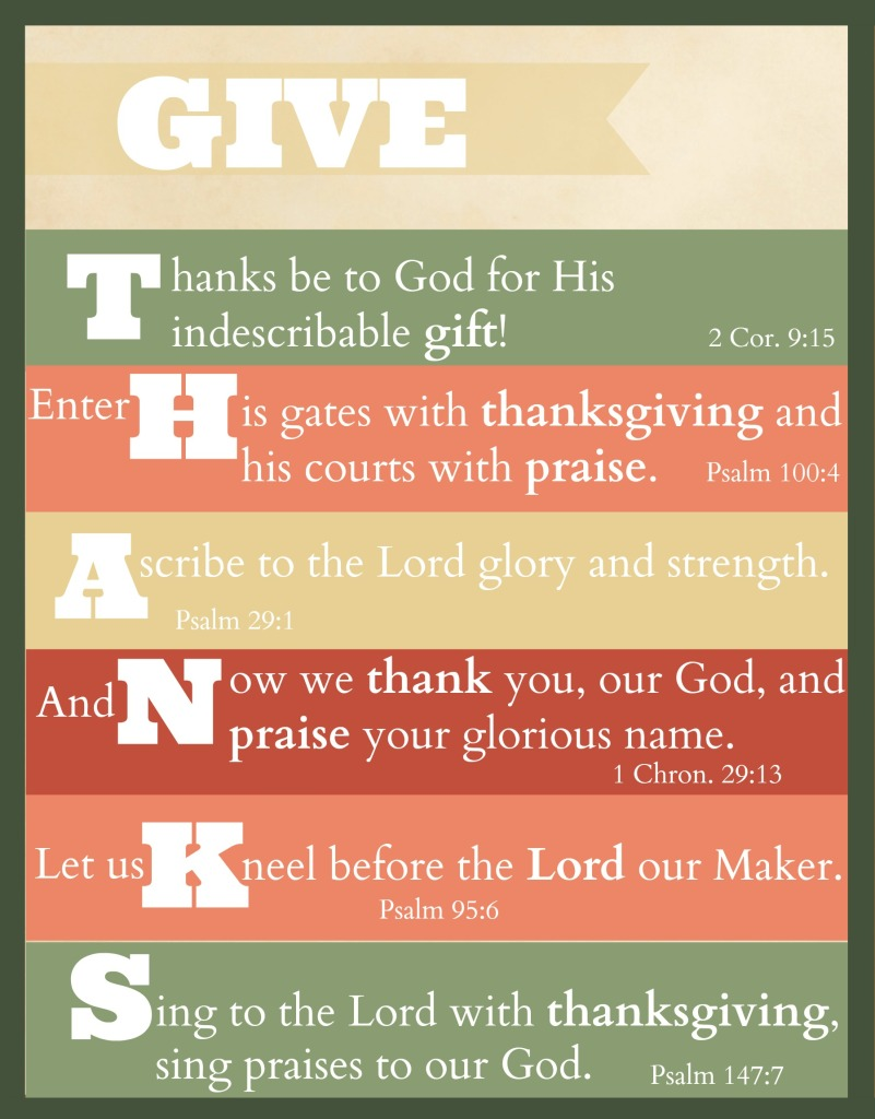 """Best Thanksgiving Quotes From Bible: Free Printable: """"Give Thanks"""" Thanksgiving Scripture Art"""