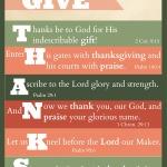 "Free Printable: ""Give Thanks"" Thanksgiving Scripture Art"