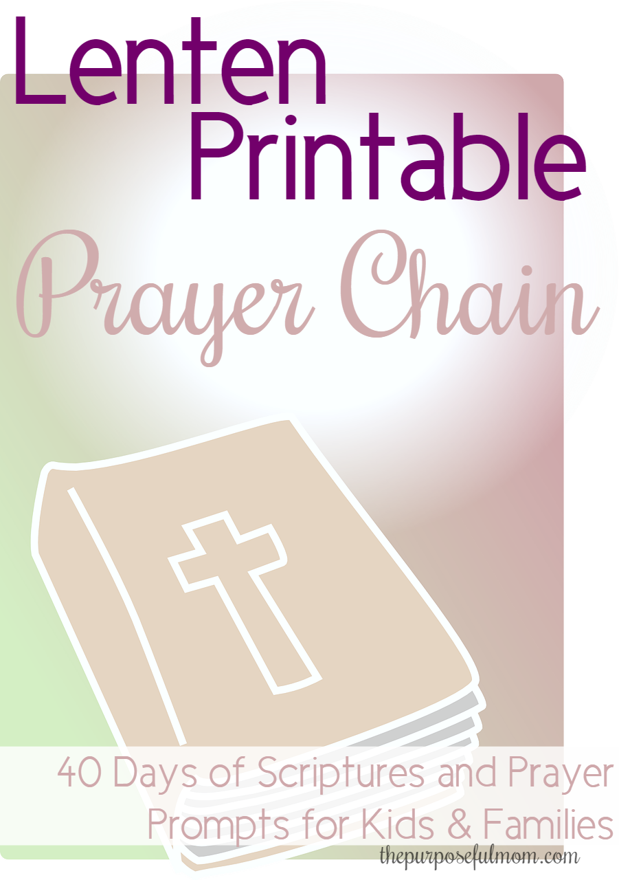 Free 40 Day Prayer Chain Printable- Scripture and Prayer Prompts for ...