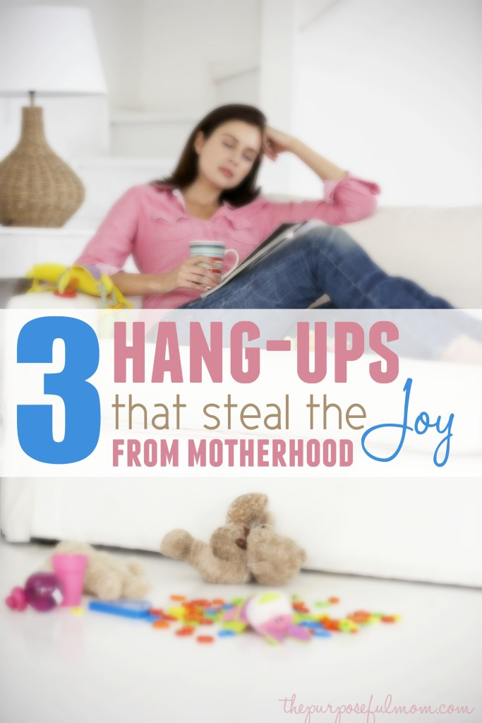There are three big hang-ups that I believe steal the joy from motherhood. How to overcome and find joy in being a mom again!