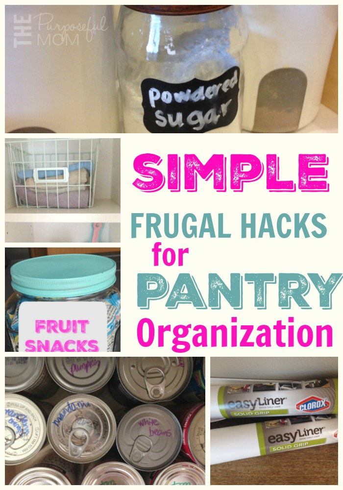 Simple Frugal Ideas For Pantry Organization The