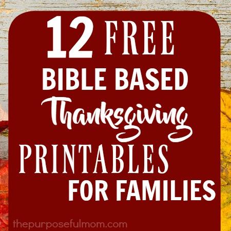 12 FREE BibleBased Thankgiving