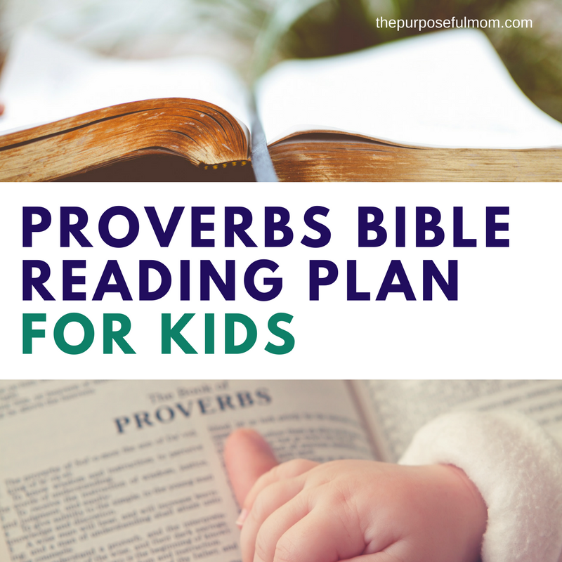 Proverbs 6 week bible reading plan for kids